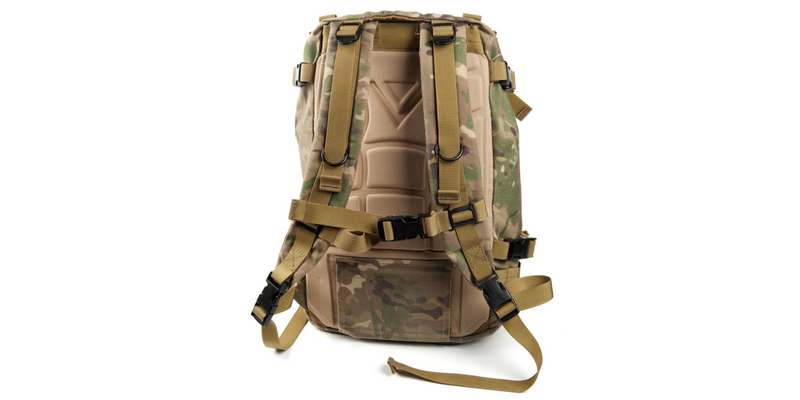 Camouflaged bug out bag