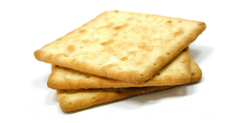 Hardtack is a biscuit made of flour and water.